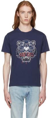 Kenzo Navy Bleached Tiger T-Shirt