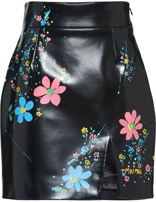 Miu Miu Cire floral mini skirt