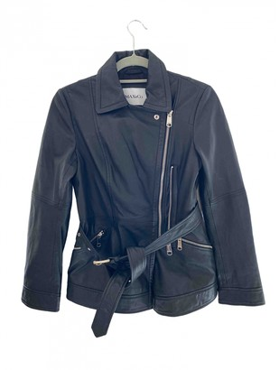 Max & Co. Black Leather Leather Jacket for Women