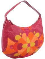 Lucky Brand Balboa Island Patchwork Hobo (Tropical Berry) - Bags and Luggage