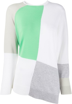 Fabiana Filippi cashmere colour blocked jumper