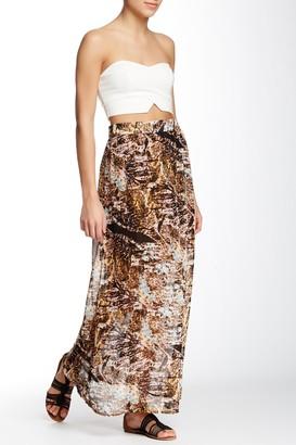 Vertigo Printed Long Maxi Skirt