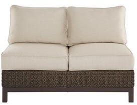 Gracie Oaks AsphodAle Wicker Patio Loveseat with Cushions