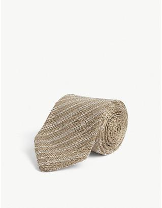 Eton Striped knitted cotton tie