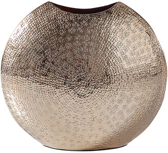 Torre & Tagus Tiber Hammered Pinched Round 9.5In Vase Short