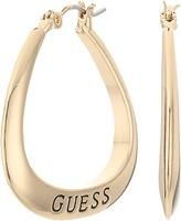 GUESS Logo Triangular Hoops