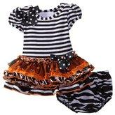 Bonnie Baby girls Newborn Stripe To Multi Tier Skirt Dress