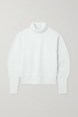 AGOLDE Cotton-jersey Turtleneck Sweatshirt - Light gray