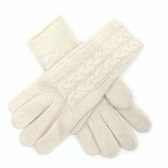 Meiz Womens Ladies Woolly Knitted Winter Warm Gloves (Cream)