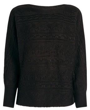 Dorothy Perkins Womens Black Textured Batwing Jumper, Black