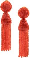 Oscar de la Renta beaded tassel earrings