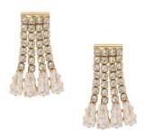Ettika Crystal Fringe Dangle Stud Earrings