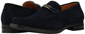 Stacy Adams Neville Moc Toe Penny Loafer (Black Suede) Men's Shoes