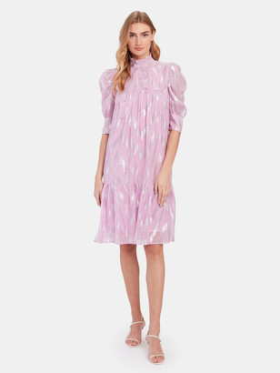 Birgitte Herskind Liva Metallic Ruffled Midi Dress