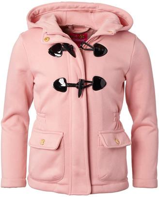Pink Platinum Girls' Fleece Jackets BLUSH - Blush Lightweight Fleece Hooded Jacket - Infant, Toddler & Girls
