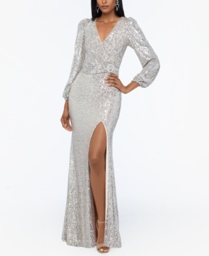 Xscape Evenings Sequined V-Neck Gown