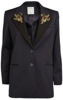 Sandro Paris Bead Embellished Jacket