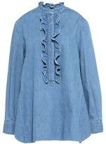 Stella McCartney denim ruffled shirt