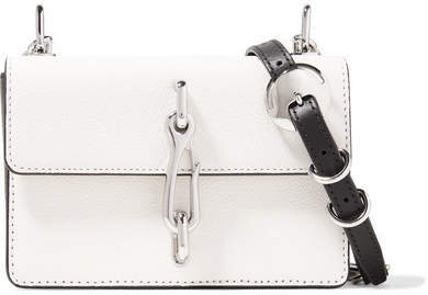 Alexander Wang Hook Two-tone Smooth And Textured-leather Shoulder Bag