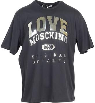 Love Moschino Black & Gold Signature Cotton Women's T-Shirt
