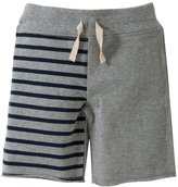 Burt's Bees Baby Striped Board Shorts (Toddler/Kid) - Grey-4T