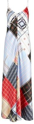 Ganni Patchwork Print Slip Dress