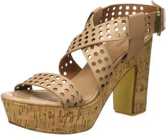 B | Private BPrivate Womens E1504X Open Toe Sandals Beige Size: 6.5