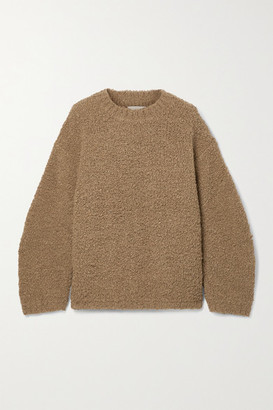 LAUREN MANOOGIAN Astrakhan Alpaca And Wool-blend Boucle Sweater - Brown