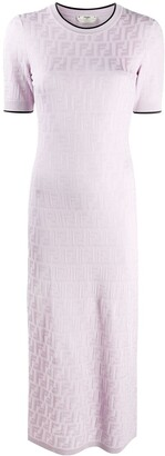 Fendi FF-motif midi knitted dress