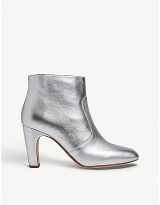 LK Bennett Antonia metallic leather ankle boots