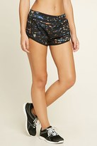 Forever 21 FOREVER 21+ Active Geo Print Shorts