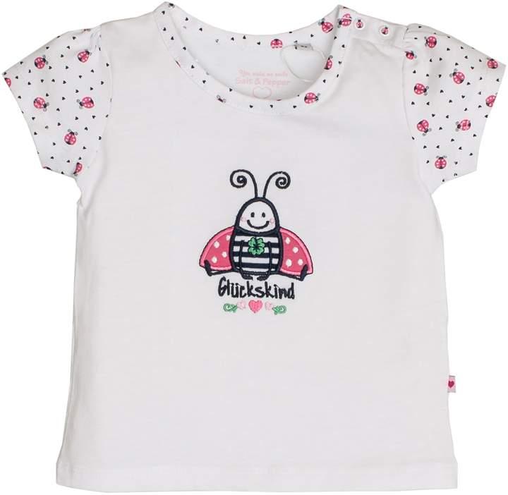 Salt&Pepper Salt and Pepper Baby Girls' NB T-Shirt Gluck uni Kafer