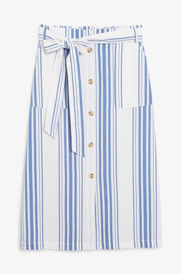 Thumbnail for your product : Monki Cotton midi skirt