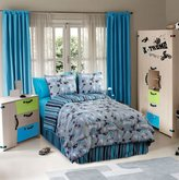 Veratex On the Edge 100% Polyester 3-Piece Kids Bedroom Comforter Set for Boys, Twin Size, Graphite