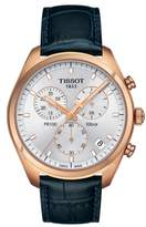 Tissot Pr100 Chronograph Leather Strap Watch, 41Mm