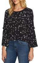 CeCe Bell Sleeve Simple Ditsy Top