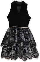 Rare Editions Lace Ruffle Party Dress, Big Girls, Created for Macy's