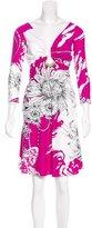 Roberto Cavalli Embellished Abstract Print Dress