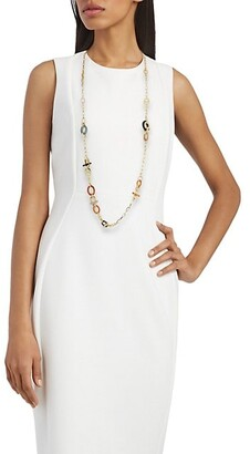 Gas Bijoux Mixed Ring Long Necklace