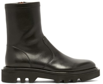 Givenchy Leather Tread-sole Combat Boots - Mens - Black