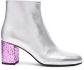 Saint Laurent Metallic Leather & Glitter Boots