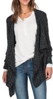 Volcom Women's 'Channeling' Drape Front Cardigan