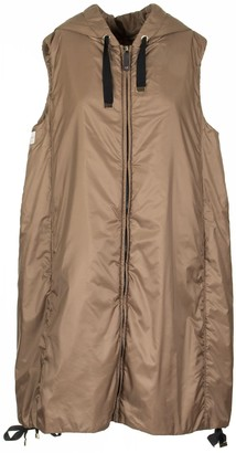 Max Mara Water Repellent Fabric Gilet Coat Greengi Camel