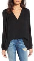 Lush Women's Textured V-Neck Blouse