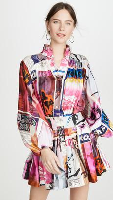 Zimmermann Wavelength Long Sleeve Mini Dress