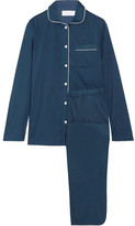 Three J NYC Macgill Cotton-poplin Pajama Set - Navy