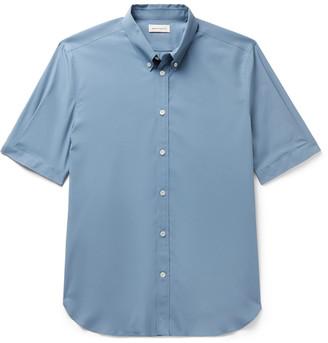 Alexander McQueen Slim-Fit Button-Down Collar Stretch-Cotton Poplin Shirt