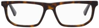 McQ Tortoiseshell Rectangular Glasses