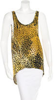Torn By Ronny Kobo Sleeveless Printed Top