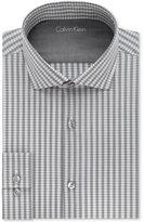 Calvin Klein Men's X Extra Slim-Fit Graphite Striped Dress Shirt